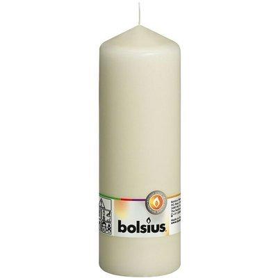Bolsius Pillar Candle świeca bryłowa pieńkowa słupek 200/70 mm - Kremowa