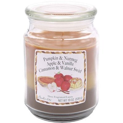 Candle-lite 3-Layer Collection Scented Glass Jar Candle 19 oz 538 g - Woodland Walk, Sundried Linen, Mountain View