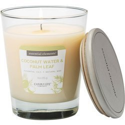 Candle-lite Essential Elements Glass Natural Scented Candle 9 oz 255 g - Coconut Water & Palm Leaf