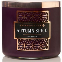 Colonial Candle Luxe large soy scented candle wooden wick 14.5 oz 411 g - Autumn Spice