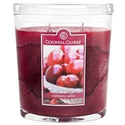 Colonial Candle large scented oval jar candle 22 oz 623 g - Cranberry Spice