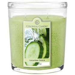 Colonial Candle large scented oval jar candle 22 oz 623 g - Cucumber Fresca