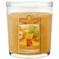 Colonial Candle large scented oval jar candle 22 oz 623 g - Mango Salsa