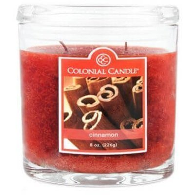 Colonial Candle medium scented oval jar candle 8 oz 226 g - Cinnamon