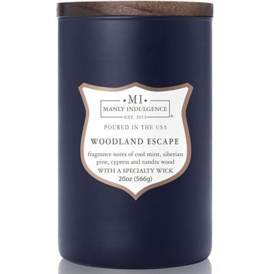 Colonial Candle wooden wick soy scented candle navy 20 oz 566 g - Woodland Escape