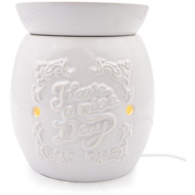 Electric wax burner with removable bowl Boro - White