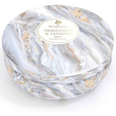 Woodbridge marble scented tin candle 3 wicks 470 g - Bergamot & Jasmine