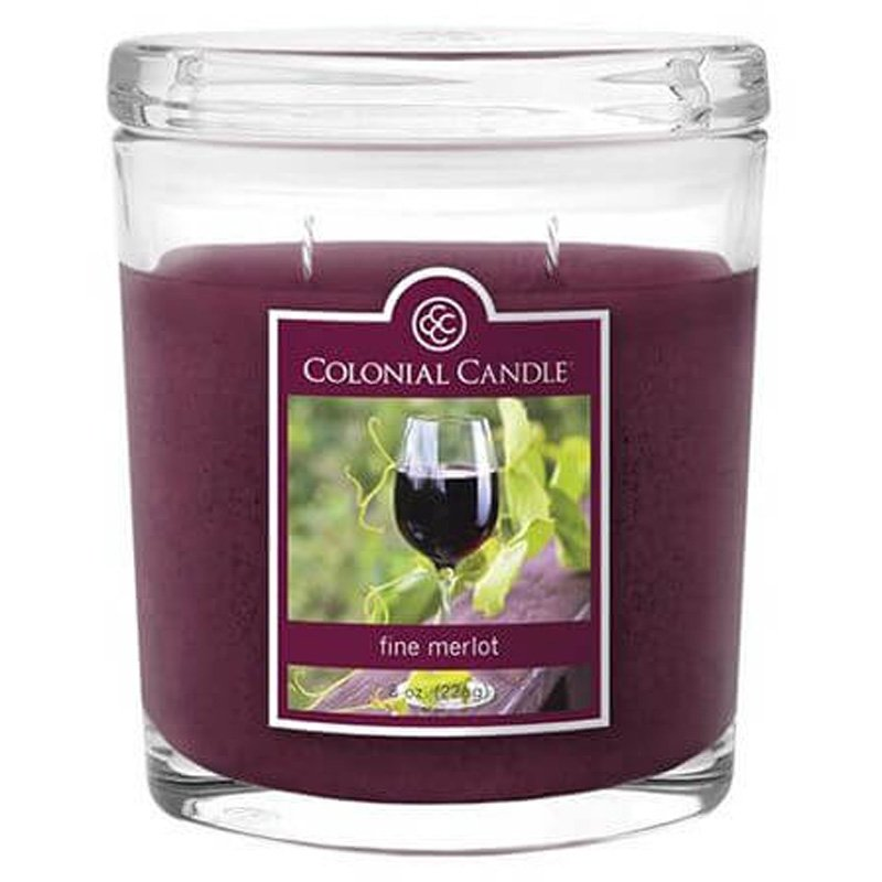 Colonial Candle Medium Scented Oval Jar Candle 8 Oz 226 G Fine Merlot Candle World Shop