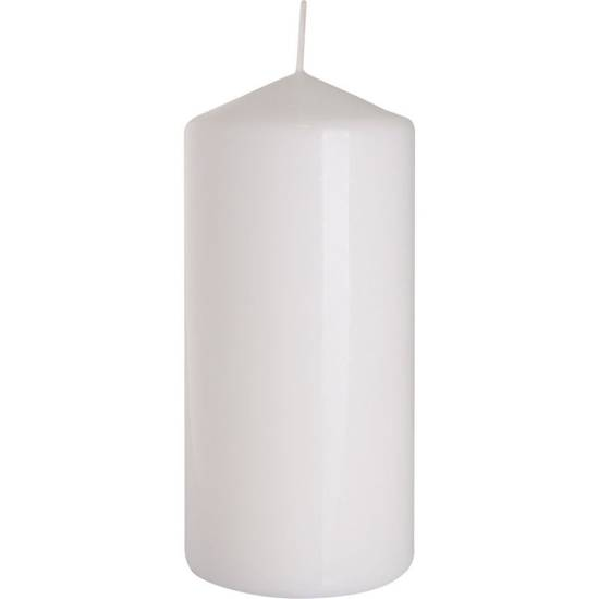 Bispol pillar unscented solid candle 150/68 mm - White