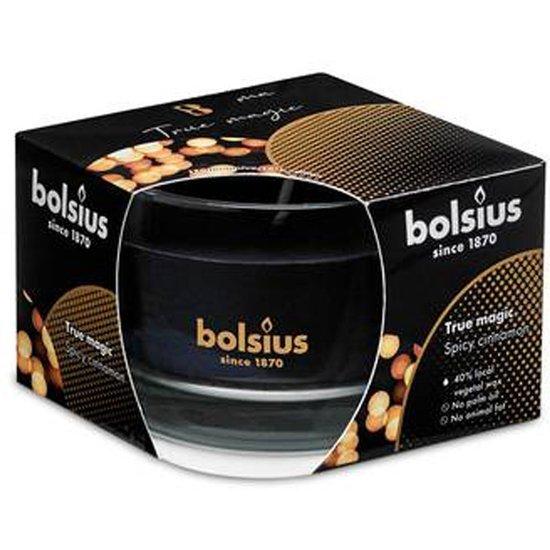 Bolsius medium scented candle in glass 63/90 mm True Magic navy