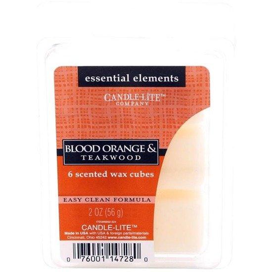 Candle-lite Essential Elements Wax Melts Essential Oil 2 oz 56 g - Blood Orange & Teakwood