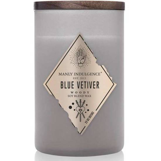 Colonial Candle Rebel soy masculine scented candle in glass 22 oz 623 g - Blue Vetiver