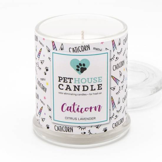 PetHouse Candle scented soy candle odor eliminating - Caticorn Citrus & Lavender