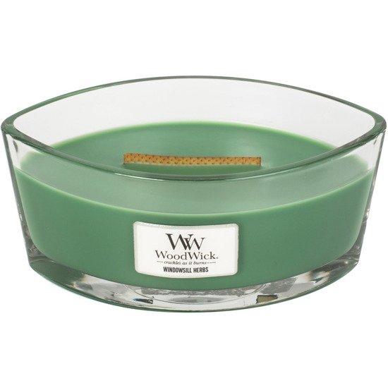 WoodWick Core Heartwick Candle świeca zapachowa sojowa w szkle łódka ~ 60 h - Windowsill Herbs