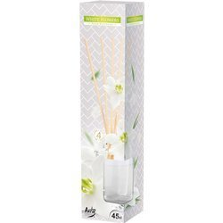 Bispol dyfuzor zapachowy patyczki zapach do domu 45 ml - White Flowers Białe Kwiaty