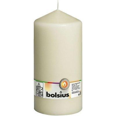 Bolsius świeca bryłowa pieńkowa słupek bezzapachowa 20cm 200/98 mm - Kremowa