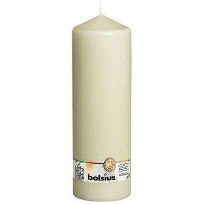 Bolsius świeca bryłowa pieńkowa słupek bezzapachowa 30 cm 300/98 mm - Kremowa