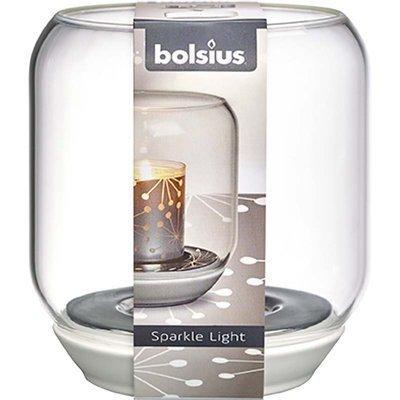 Bolsius świecznik Sparkle Light do podgrzewaczy wkładów 130/121 mm - Przezroczysty