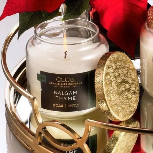 Candle-lite CLCo Candle Jar 14 oz luksusowa świeca zapachowa w szklanym słoju ~ 90 h - No. 39 Balsam Thyme