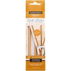 Candle-lite Essential Elements ScentSticks patyczki zapachowe papierowe naturalne z olejkami eterycznymi - Nutmeg & Oudwood