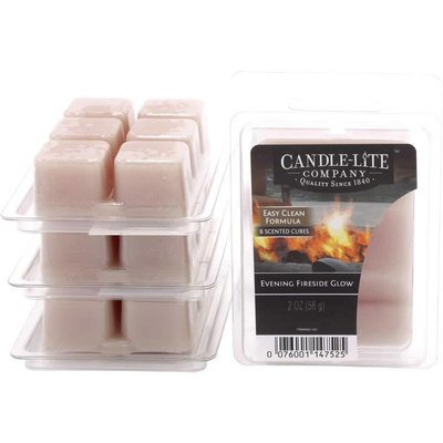 Candle-lite Everyday Collection Highly Fragranced Wax Cubes 2 oz intensywny wosk zapachowy kostki 56 g ~ 60 h - Evening Fireside Glow