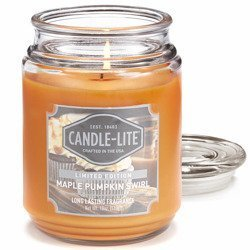 Candle-lite Everyday duża świeca zapachowa w szklanym słoju 18 oz 510 g - Maple Pumpkin Swirl