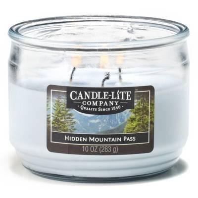 Candle-lite Everyday świeca zapachowa w szkle z trzema knotami 82/105 mm 283 g - Hidden Mountain Pass