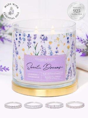 Charmed Aroma sojowa świeca zapachowa z biżuterią olejki eteryczne 12 oz 340 g Pierścionek - Sweet Dreams
