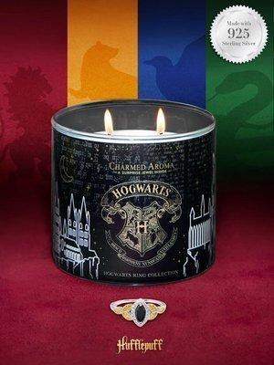 Charmed Aroma świeca zapachowa z biżuterią Harry Potter Hogwart Hufflepuff Pierścionek