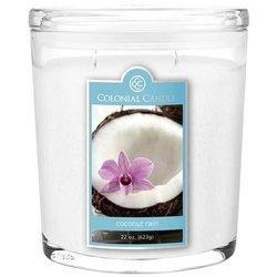 Colonial Candle duża świeca zapachowa w owalnym szkle 22 oz 623 g - Coconut Rain