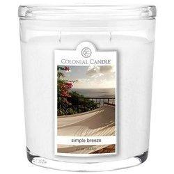 Colonial Candle duża świeca zapachowa w owalnym szkle 22 oz 623 g - Simple Breeze