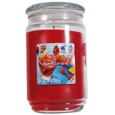 Mainstays WM świeca zapachowa w szklanym słoju 20 oz 566 g - Sweet Sangria CL069