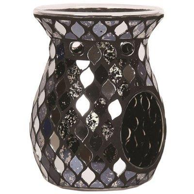 Woodbridge kominek do wosku zapachowego mozaika Black Mirror Teardrop - Czarny