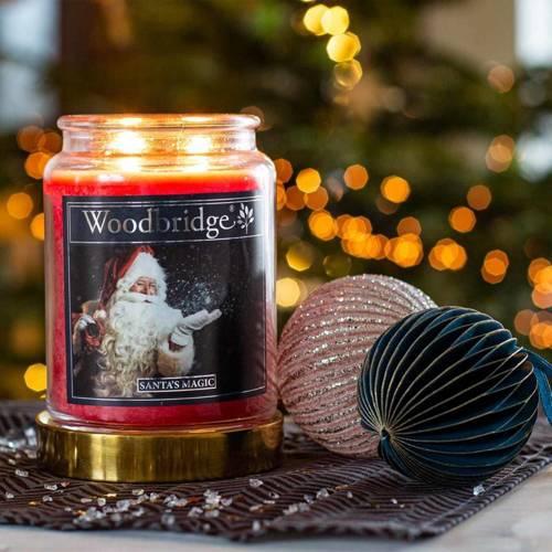 Woodbridge świeca zapachowa w słoju duża 2 knoty 565 g - Santa's Magic