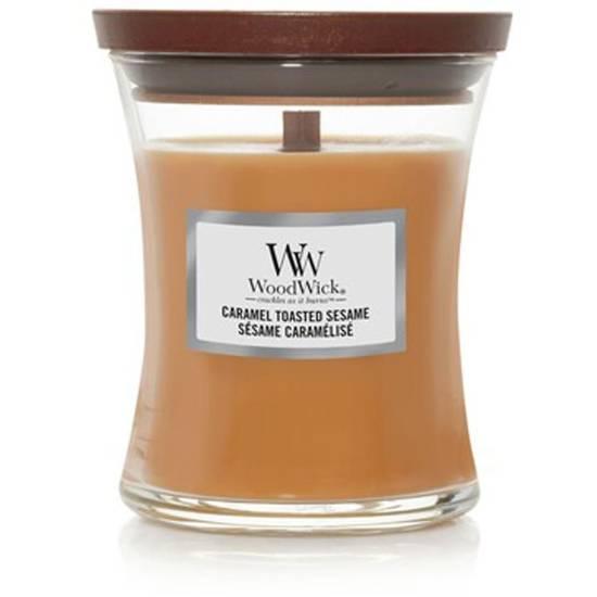 WoodWick Core średnia świeca zapachowa z drewnianym knotem 9.7 oz 275 g - Caramel Toasted Sesame
