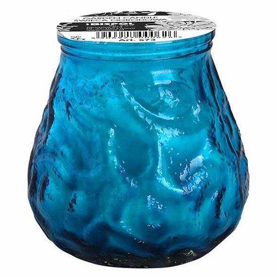 Bispol Lowboy świeca bezzapachowa ogrodowa outdoor w szkle ~ 17 h - Niebieska