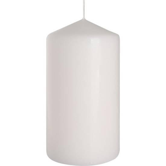 Bispol świeca bezzapachowa bryłowa pieńkowa słupek 150/78 mm - Biała