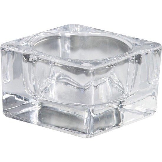Bolsius świecznik szklany do maxi podgrzewaczy i daylightów 42/75 mm - Przezroczysty