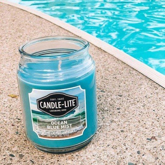 Candle-lite Everyday Collection Terrace Jar Glass Candle 18 oz duża świeca zapachowa w szklanym słoju 145/100 mm 510 g ~ 110 h - Ocean Blue Mist