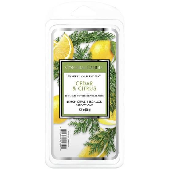 Colonial Candle Classic wosk zapachowy sojowy 2.75 oz 77 g - Cedar & Citrus