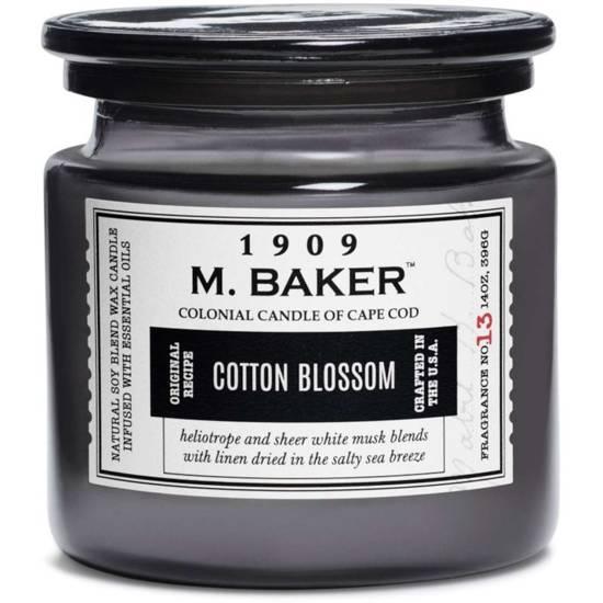 Colonial Candle M. Baker duża sojowa świeca zapachowa w słoju 14 oz 396 g - Cotton Blossom