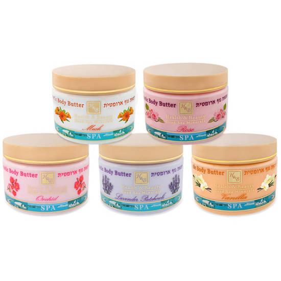 Health & Beauty aromatyczne masełko do ciała z minerałami z Morza Martwego 11.8 oz 350 g - Lawenda-Patchouli