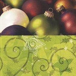 Paper Design dekoracyjne serwetki świąteczne ozdobne papierowe decoupage Lunch 33x33 cm 20 szt świeczki - Green Xmas