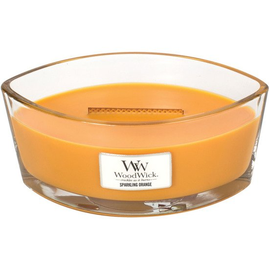 WoodWick Core Heartwick Candle świeca zapachowa sojowa w szkle łódka ~ 60 h - Sparkling Orange