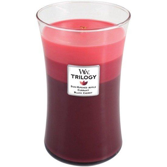 WoodWick Core Large Trilogy Candle świeca zapachowa trójkolorowa sojowa w szkle ~ 175 h - Summer Fruits