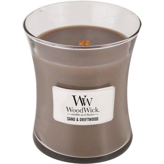 WoodWick Core Medium świeca zapachowa sojowa w szkle ~ 100 h - Sand & Driftwood
