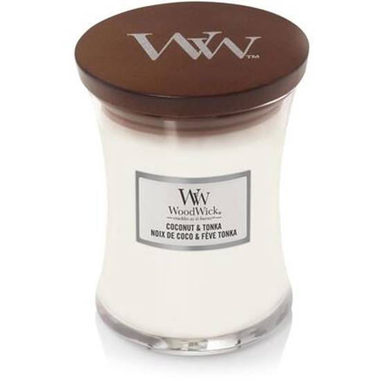 WoodWick Core średnia świeca zapachowa z drewnianym knotem 9.7 oz 275 g - Coconut & Tonka
