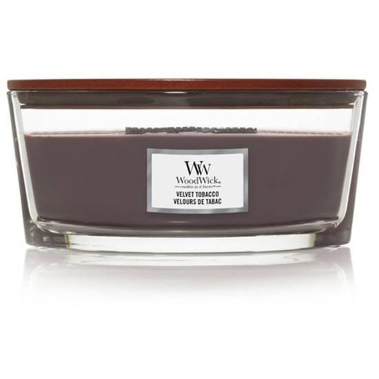 Woodwick Core Heartwick Ellipse duża świeca zapachowa z drewnianym knotem 16 oz 453.6 g - Velvet Tobacco