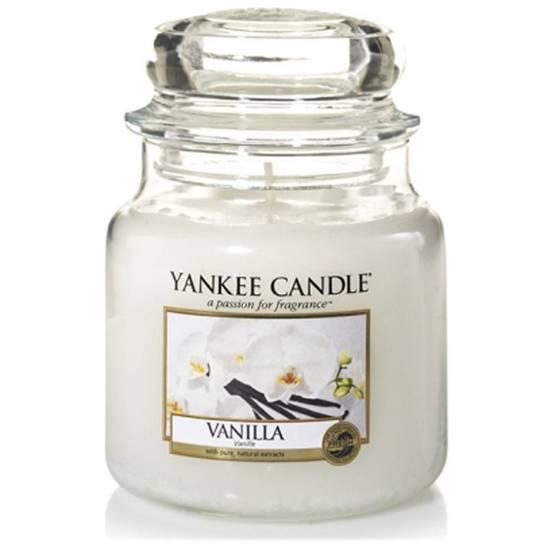 Yankee Candle średnia świeca zapachowa w szklanym słoju 14,5 oz 411 g - Vanilla